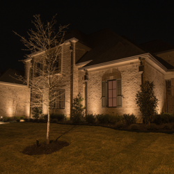 Architectural Accent Lighting on Home in Memphis, TN