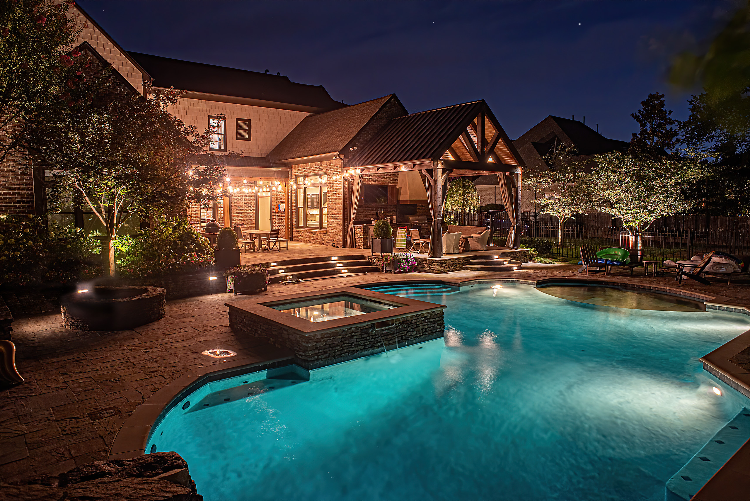 Patio Lighting Design in Memphis, TN