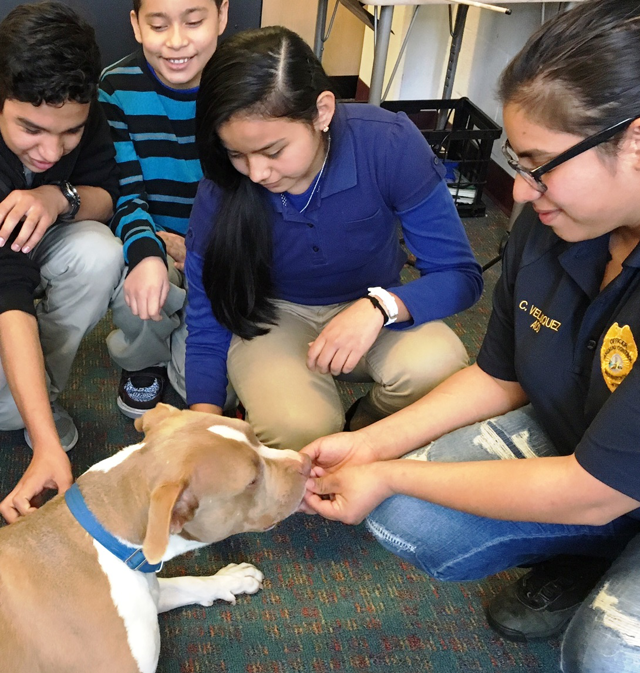 HRA Animal Control Officer at Humane Education Class