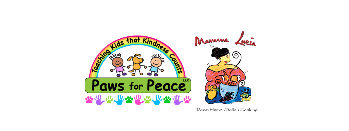 Paws for Peace and Mamma Lucia logos