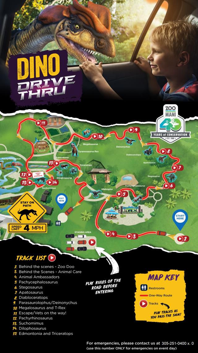 Dino Drive Thru Map