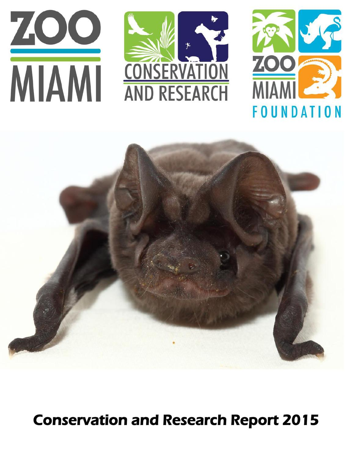 2015 Zoo Miami Conservation and Research Annual Report