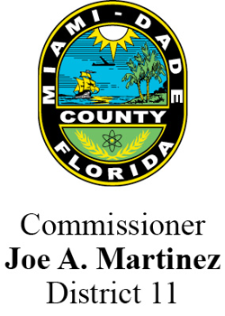 Commissioner Joe A. Martinez County Seal