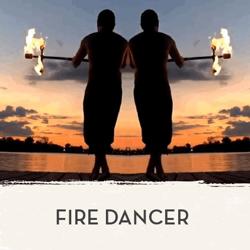 Photo of man juggling fire - Fire Dancer