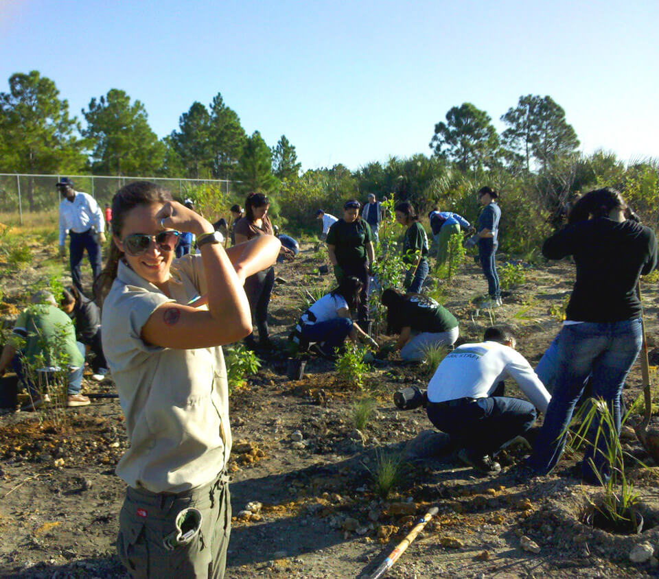 The first pine rockland restoration planting event at Zoo Miami