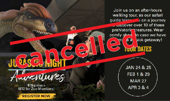 Jurassic Night Adventures - CANCELLED image