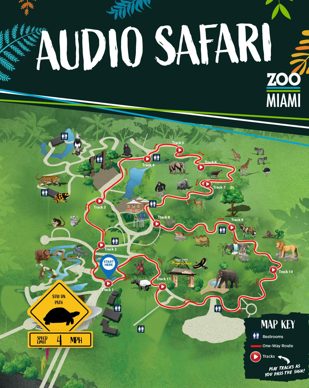 Audio Safari Map