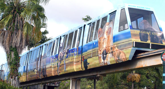 monorails at Zoo Miami
