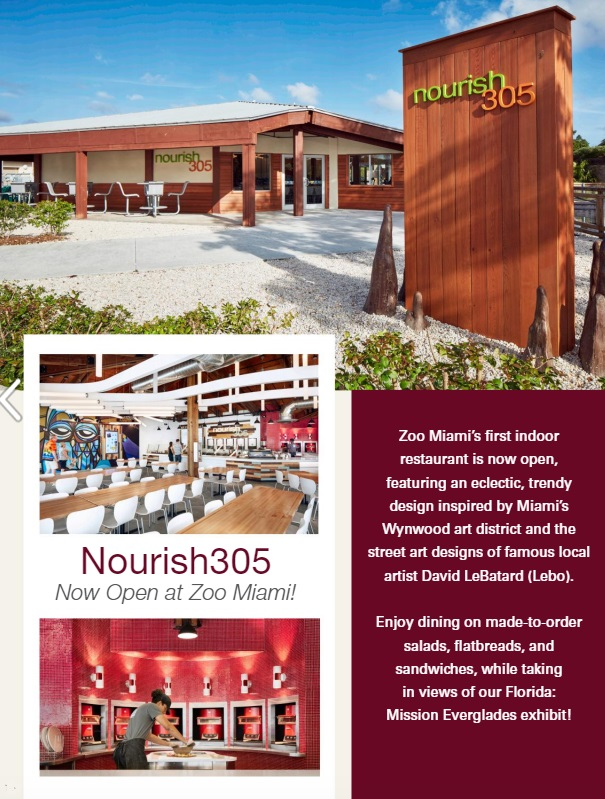 Nourish 305 restaurant at Zoo Miami
