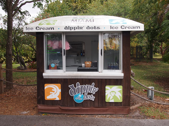 Dippin Dots cart at Zoo Miami