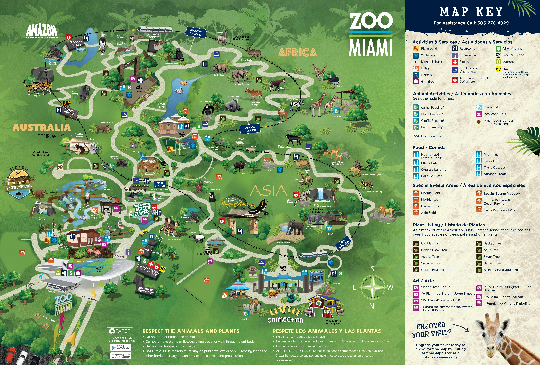 Zoo Miami Map