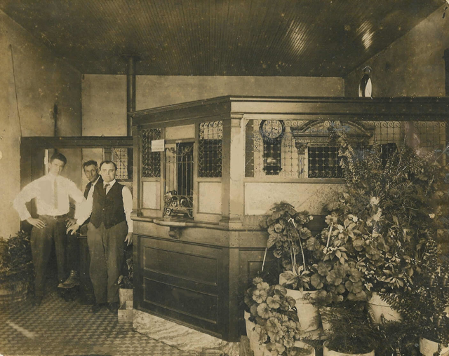 vintage photo of bank