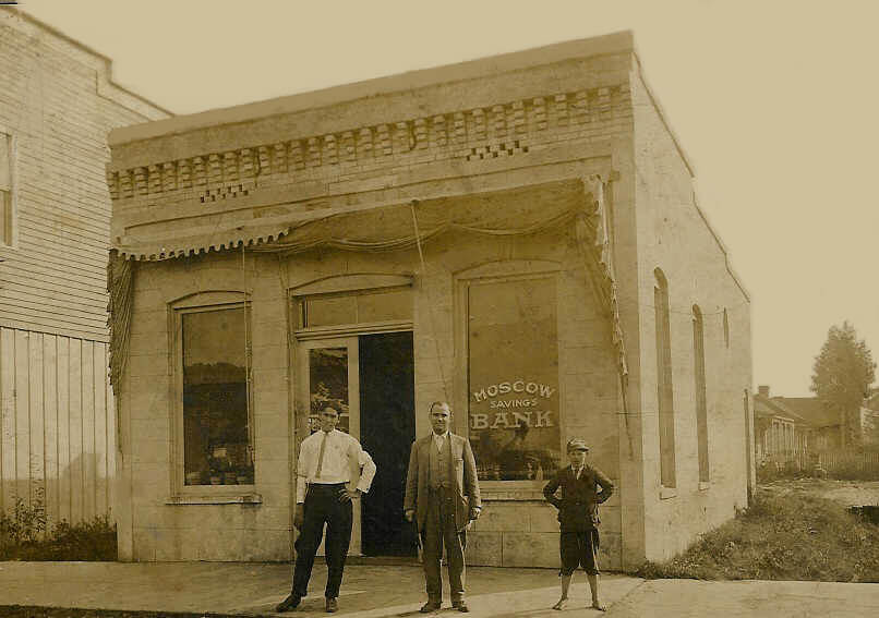 vintage photo of bank storefront