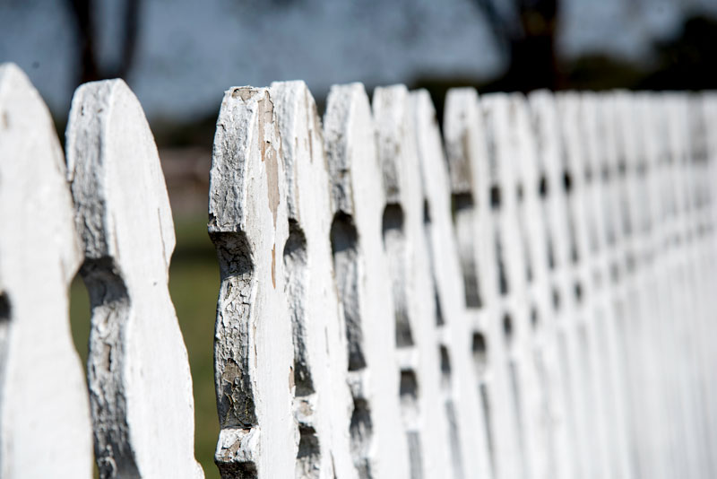 image of a close fence