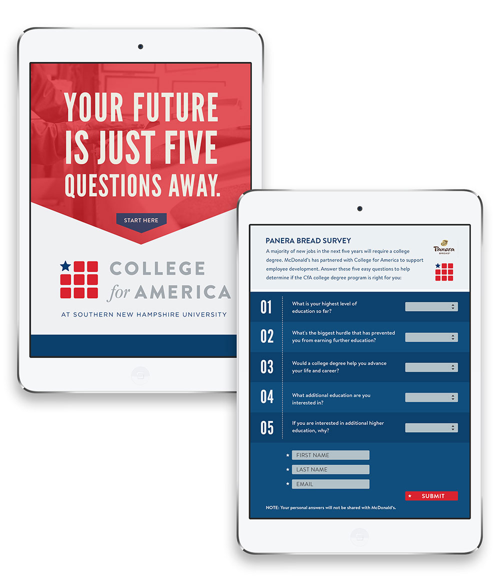College of America - iPad Survey