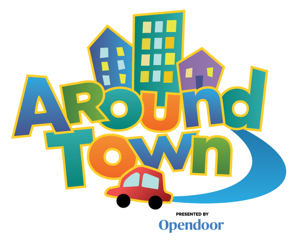 Around Town logo OpenDoor sponsorship