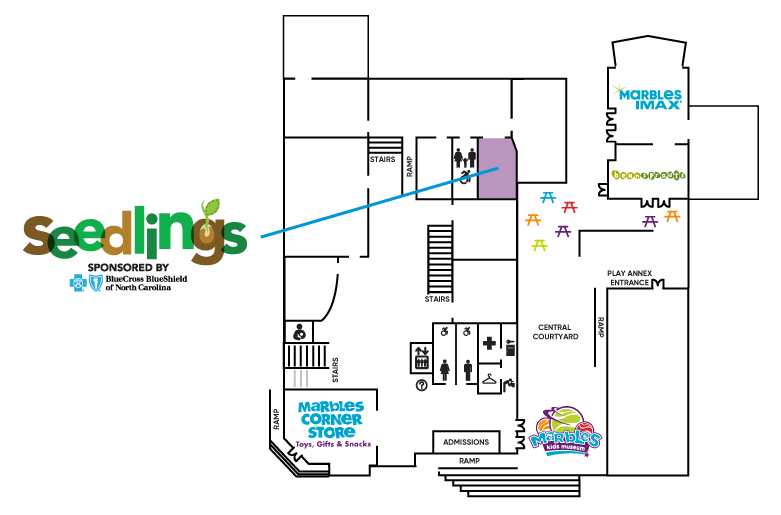Seedlings Exhibit Map