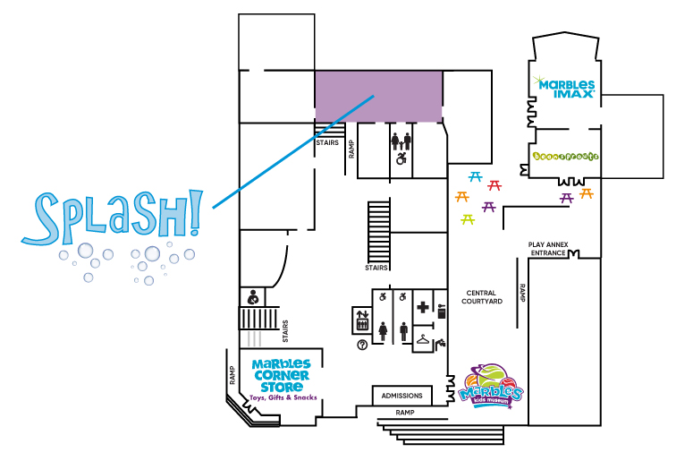 Splash Exhibit Map