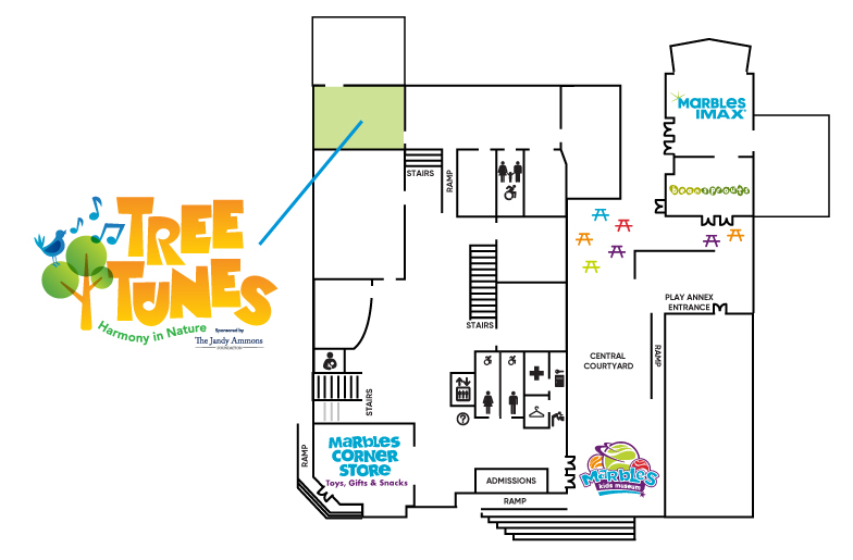 Tree Tunes Exhibit Map