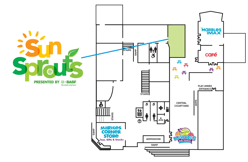 Sun Sprouts Exhibit Map