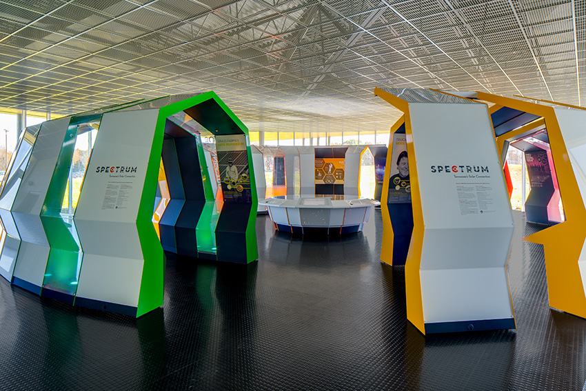 Information Center with SPECTRUM, the interactive renewable-energy exhibit