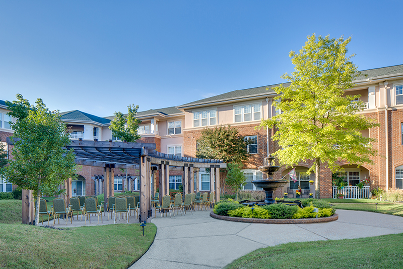 Village at Germantown Senior Living Courtyard