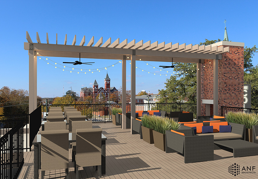Rooftop Terrace Rendering