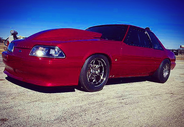 1989 Ford Mustang Drag Racing BTE powerglide