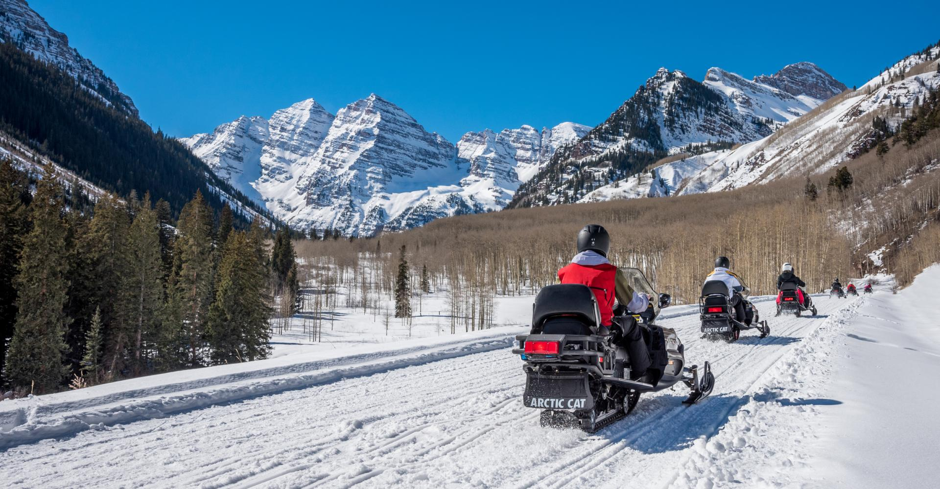 snowmobile excursion in Aspen