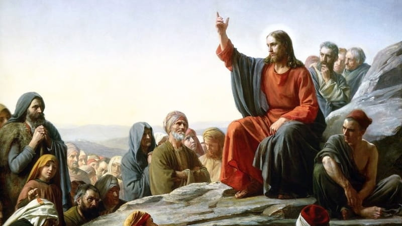 Photo of pastor delivering a sermon.