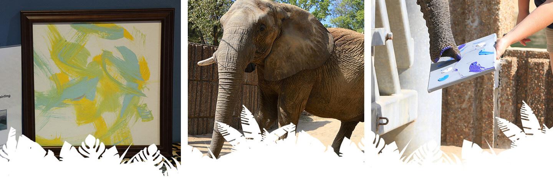 art for elephant banner