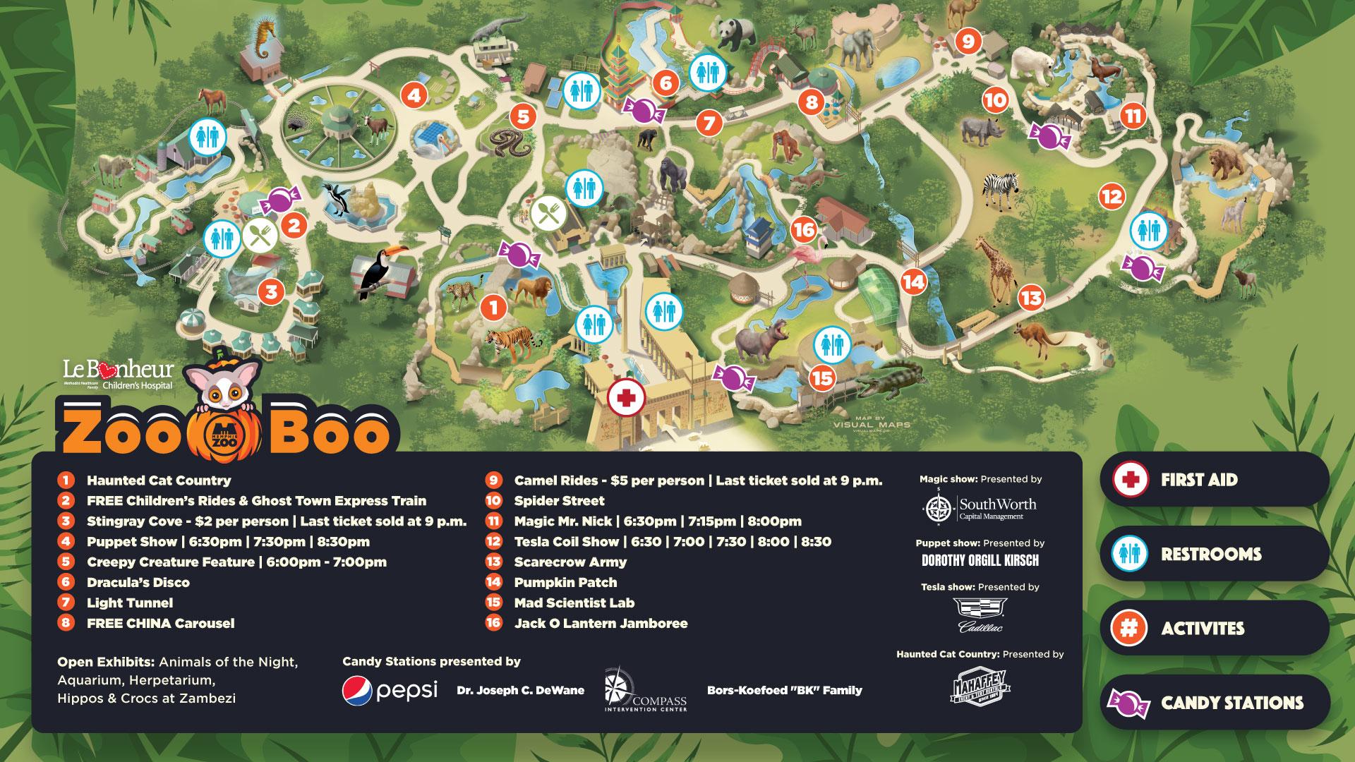 Zoo Boo Map