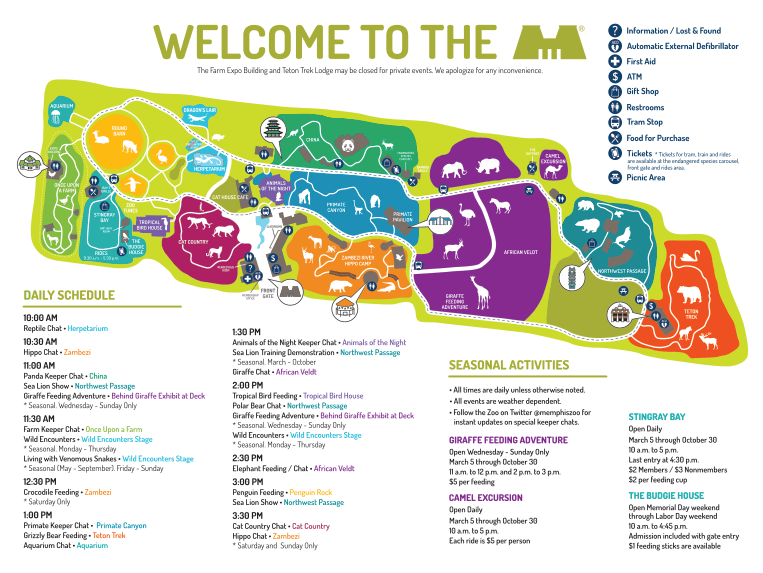 Memphis Zoo Map Map and Directions