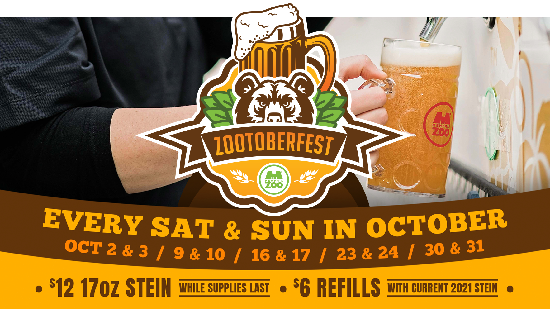 Zootoberfest every Saturday and Sunday in October