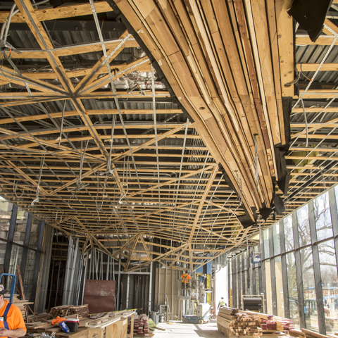 Williams Lodge Ceiling Installation, February 2018