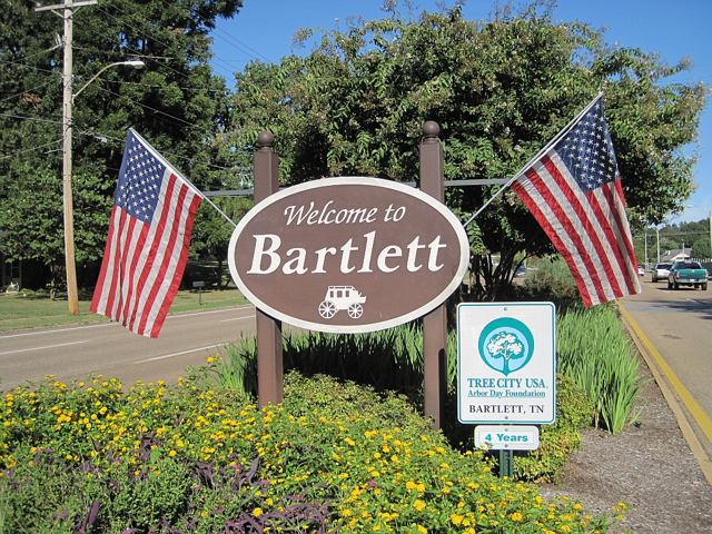 Bartlett, TN Welcome Sign