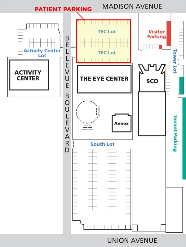 The Eye Center Map