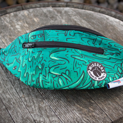 Green Mosaic Fanny Pack