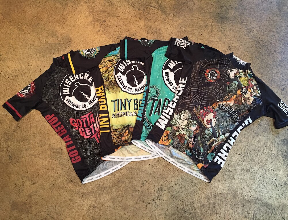 Wiseacre brewing co gotta get up to get down bike jersey for Craft beer cycling jerseys