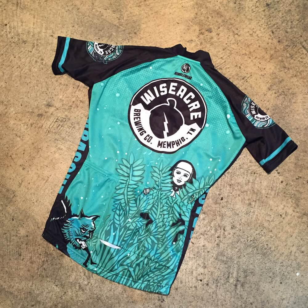 Wiseacre brewing co tarasque bike jersey for Craft beer cycling jerseys