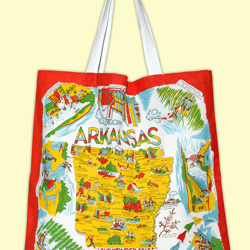 Arkansas State Map Market Tote