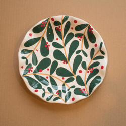 Coton Colors Holly Plate
