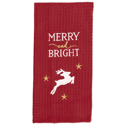 Merry & Bright Waffle Weave Towel