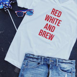 Red, White, & Brew Tee