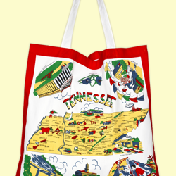 Tennessee Map Tote