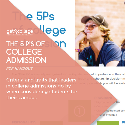 The 5 P's of College Admission