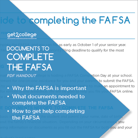 What You Need to Complete the FAFSA