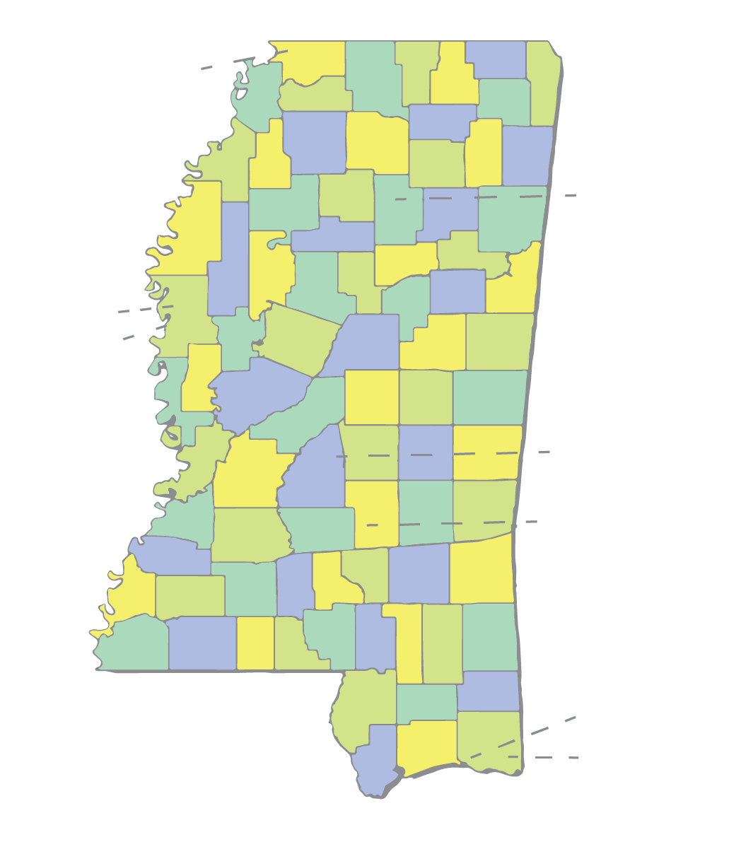 Mississippi School Map