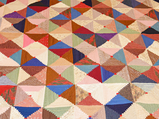 Photograph of historic quilt from our collection.