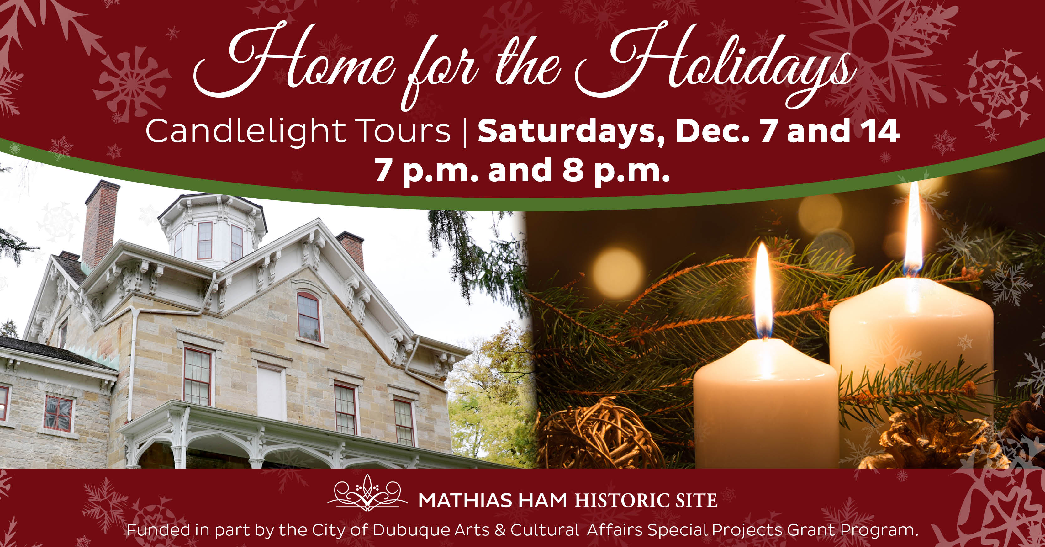 Home for the Holidays | Candlelight Tours (7 p.m. and 8 p.m.)
